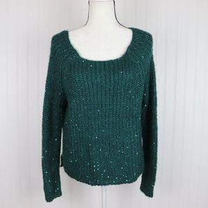 Jennifer Lopez Sparkly Knit Sweater Size M